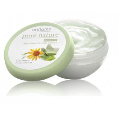 Pure Nature umirujuća hidratantna krema s ekstraktom aloe vere i arnike - odlična za osjetljivu kožu.    Cijelu recenziju pogledajte na:   http://oriflamebyiva.blogspot.com/2012/08/pure-nature-umirujuca-hidratantna-krema.html