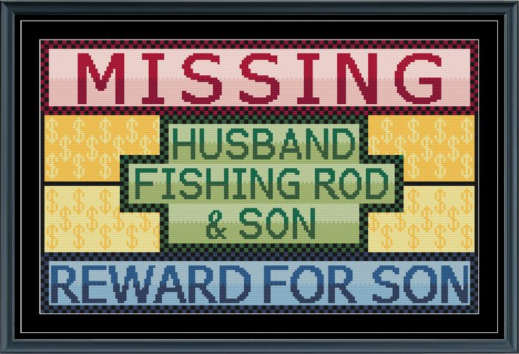 Reward For Son Cross Stitch Pattern by StitcherzStudio on Etsy