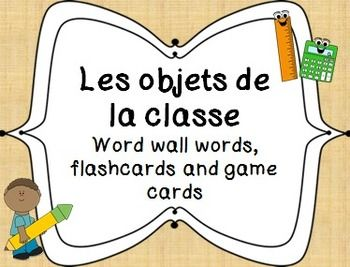 French Classroom objects - games and flashcards