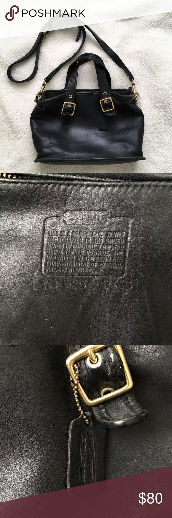 Vintage Coach Legacy Satchel Vintage condition black leather small Legacy Satchel. Gorgeous bag, a few signs of wear. Needs a good home! Coach Bags Satchels