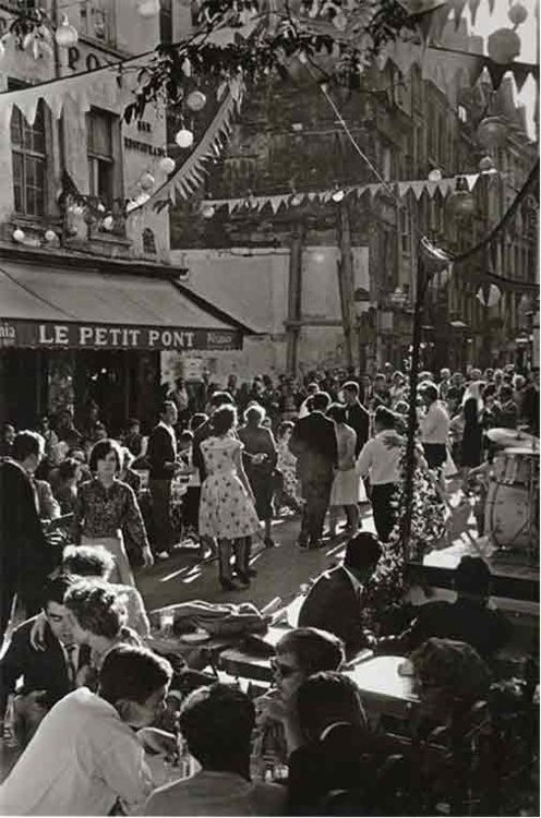 1961.  Dancing in the streets on Bastille Day. Years later, a Motown song would turn this into a thing.