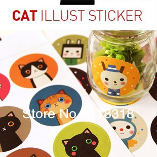 Special offer,(1 Lot=4 Sheets) DIY Scrapbooking Cute Cat Diary Paper Photo Album Stickers Envelope Crafts Birthday Party Sticker