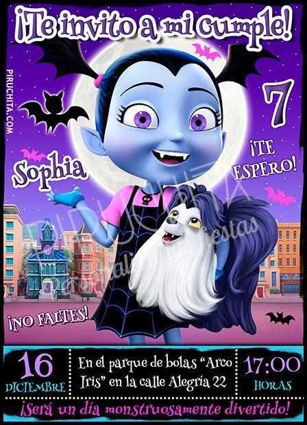 Invitación cumpleaños Vampirina #03 | Digital Imprimible ...