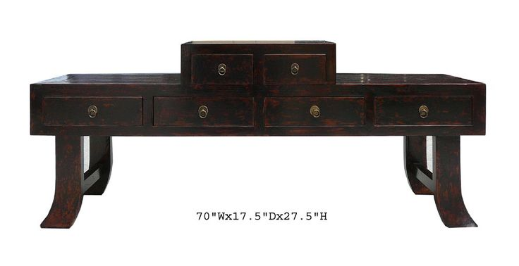 This is a prayer altar table which is made of elm wood. At the old time , the family used this table to display KwanYin or Buddha statue, at the left and right sides can put vase flowers or Lucky bamb