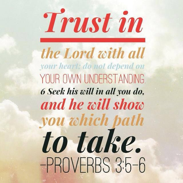 Bible Quotes On Faith And Trust: Bible Verses ♥ Proverbs 3:5-6 (New Living Translation