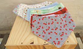 babadores tipo bandana molde e tutorial de costura