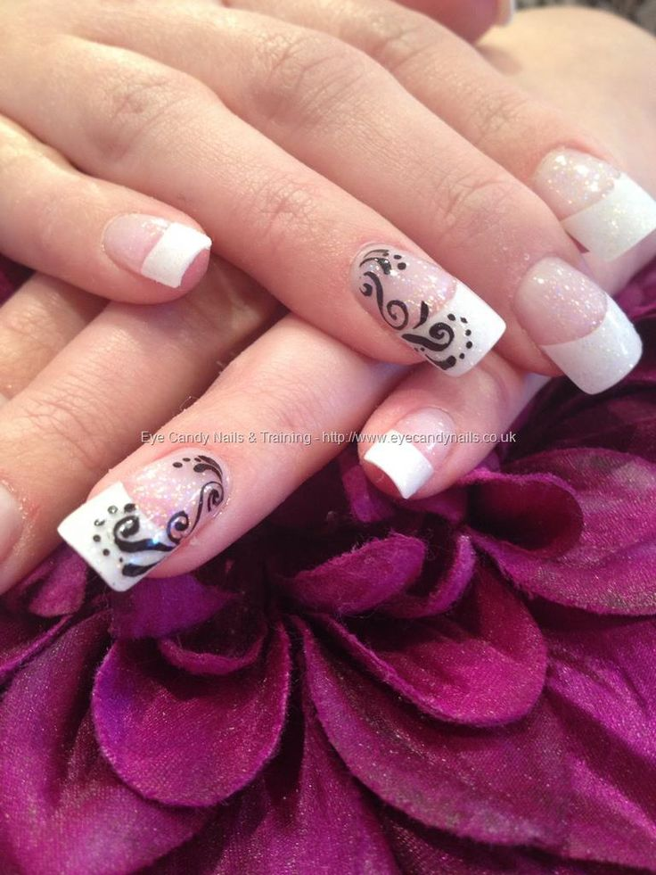 Best 25 one stroke nails ideas on pinterest one stroke one eye candy nails training nails gallery green and glitter tips with one stroke nail art and swarovski crystals over acrylic nails by elaine moore on 30 prinsesfo Image collections