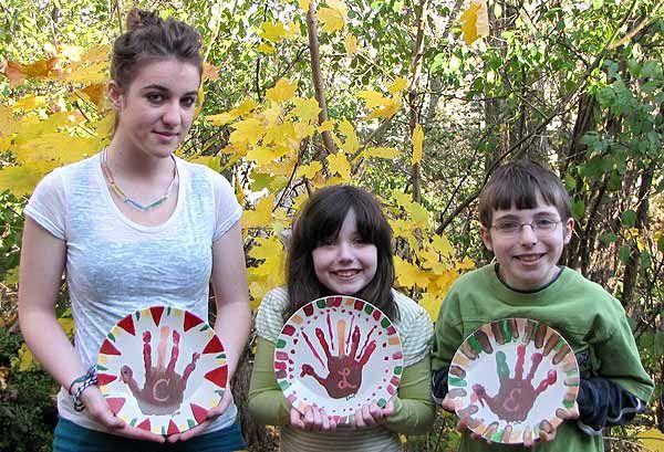 Cool, I am going to get a platter and someway use Grandkids hand prints as feathers and then draw a turkey head in front. Do you have any IDEAS? Thanksgiving Keepsake Plate Craft