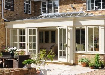 timber orangery in woking surrey open doors