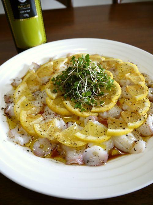 生たことレモンのカルパッチョ♪ | ** ♪bvivid の Home Cooking Recipes♪ **