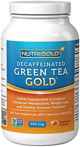 #1 Green Tea Extract - Green Tea GOLD, 500 mg, 180 Vegetarian Capsules - Decaffeinated Green Tea Fat Burner Supplement for Weight-loss (98% Polyphenols, 50% EGCG) Nutrigold http://www.amazon.com/dp/B0055CK0OE/ref=cm_sw_r_pi_dp_mgOAub0V8FVF2
