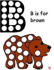 Magnet Pages for Brown Bear - This site has lots of activities for preschool.