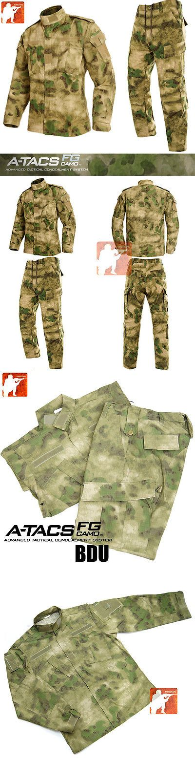 Other Uniforms and Work Clothing 163528: A-Tacs Fg Au Military Bdu Tactical Uniform Shirt Pants Hunting Airsoft Suit Set -> BUY IT NOW ONLY: $46.99 on eBay!