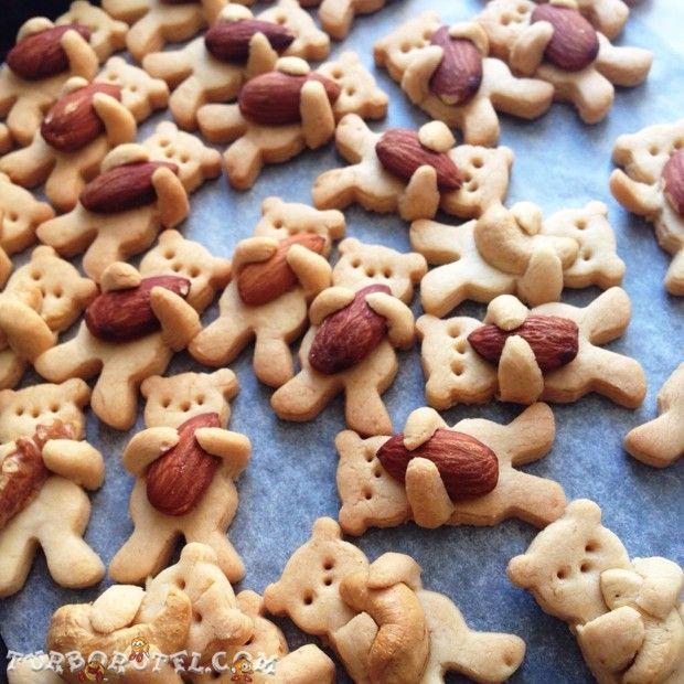 Ciasteczka misie z orzechami