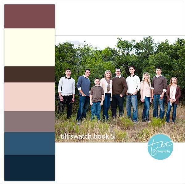 Click on the link ... great ideas of mixing colors and patterns for family pictures!