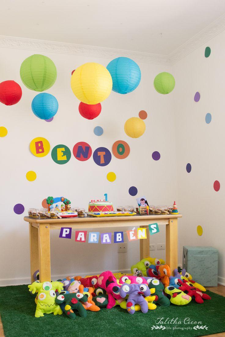 Aniversário 1 Ano do Bento - Festa aniversário em Casa #birthday #party #baby #colors