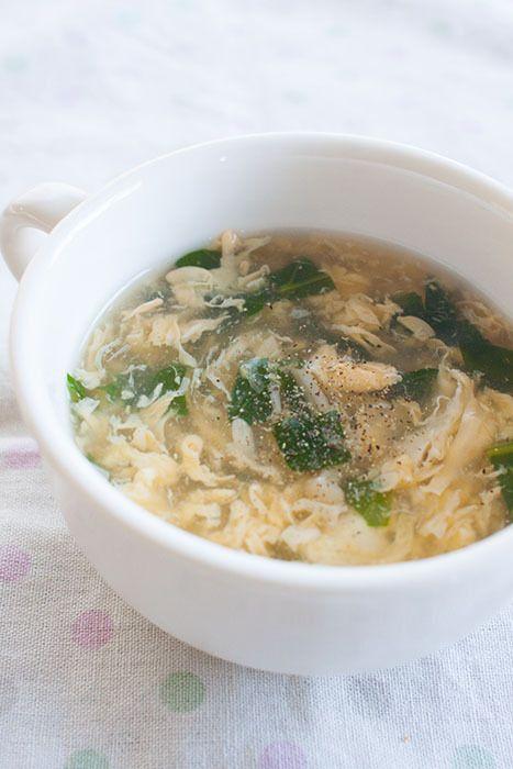 卵と小松菜のとろとろ中華スープ。 | sweet slow living ~ happyうちごはん ~