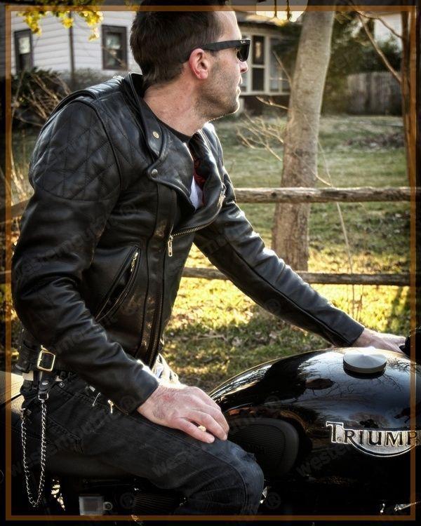Lambskin Leather Jacket Genuine Mens Stylish Motorcycle Biker Black slim fit X71 #WesternOutfit #Motorcycle