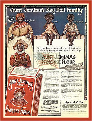 Aunt Jemima's doll family purchase form and cost... pancake flour advertisement...