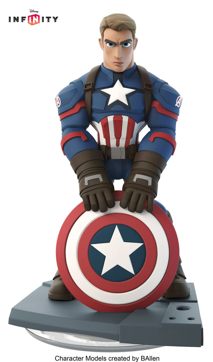 NEW Captain America for Disney Infinity Marvel Battlegrounds by BAllen, B Allen on ArtStation at https://www.artstation.com/artwork/P4OEB