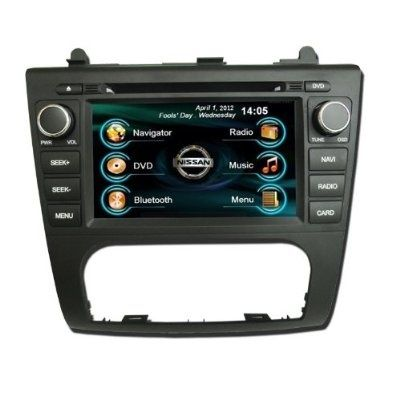 OEM REPLACEMENT IN-DASH RADIO DVD Gps NAVIGATION HEADUNIT FOR NISSAN ALTIMA (AUTO AC) 2007-2012 WITH REAR VIEW CAMERA - For Sale