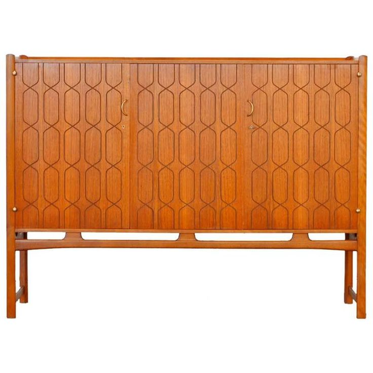 Teak Cabinet by David Rosén for Nordiska Sweden 1950s Sideboard | From a unique collection of antique and modern sideboards at https://www.1stdibs.com/furniture/storage-case-pieces/sideboards/