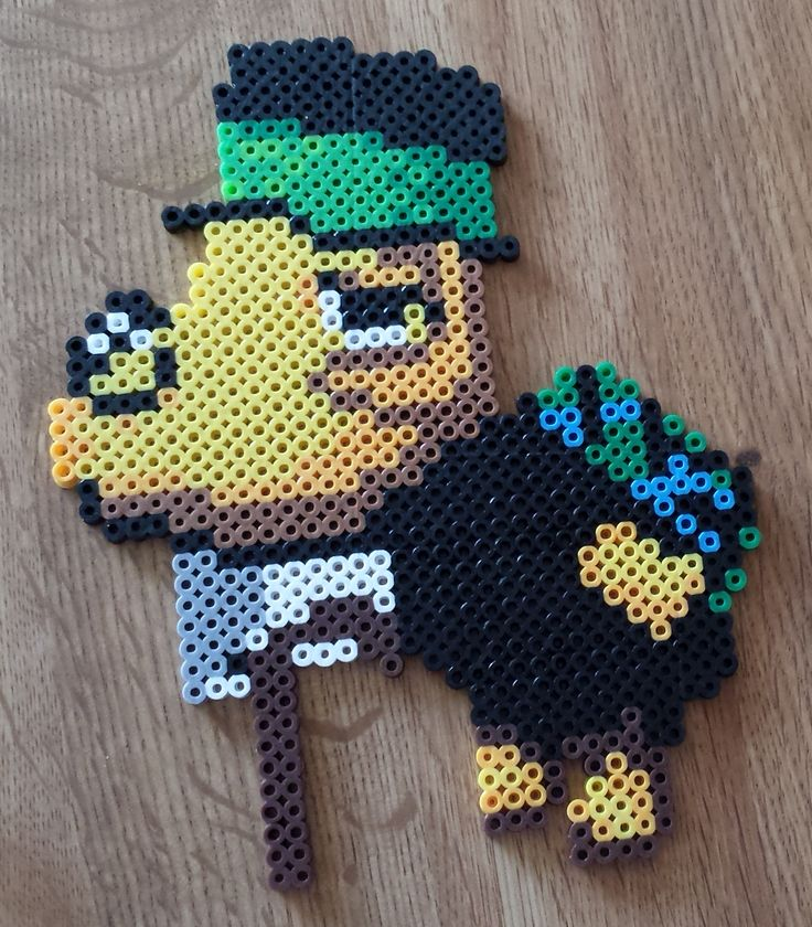 Perler Animal Crossing - Tortimer.