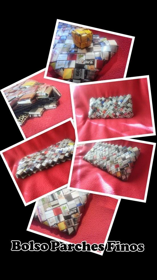 Nuestra primera creación, el bolso Parches Finos es un bolso de tamaño reducido, perfecto para llevar en la mano y rematado con cremallera invisible azul. Sus medidas son, como en casi todos nuestros bolsos, de 20 x 10 x 1 cms. (largo x alto x ancho)