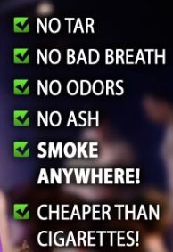 Vaping leaves the smoke behind! #popular repinned by http://pinterest.com/thebestecigs/ #vaping #bestecig #vaperings #rings #smoke #nosmoke #quitsmoking #notobacco #notar #nochemicals