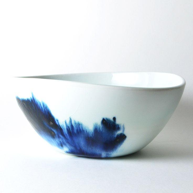 studiojoo — large blue and white bowl  Elaine Tian.