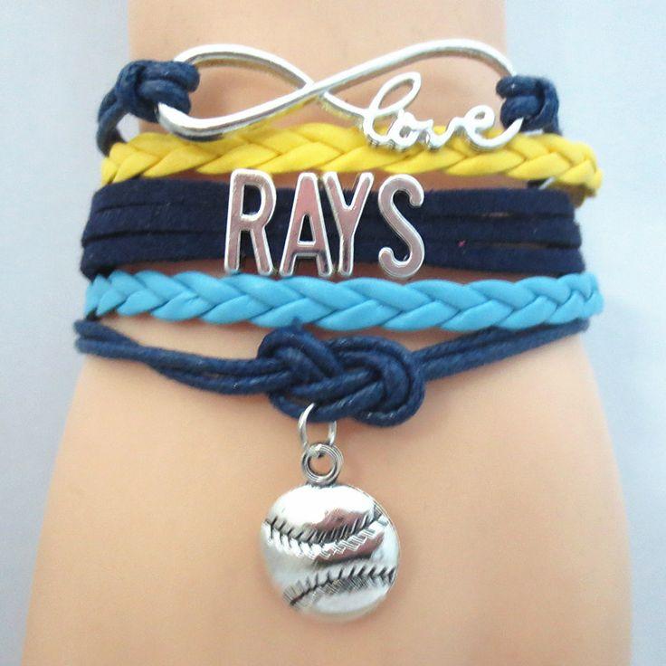 Infinity Love Tampa Bay Rays baseball Bracelet BOGO