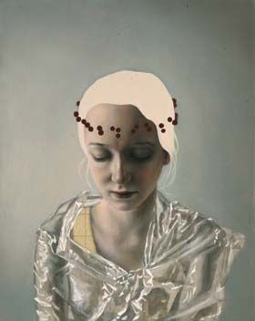 Pippa Young, Self Absorbed oil on panel 24 x 30cm