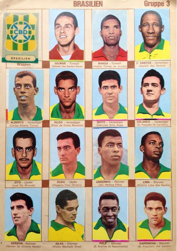world cup 1966 stickers - Brazil