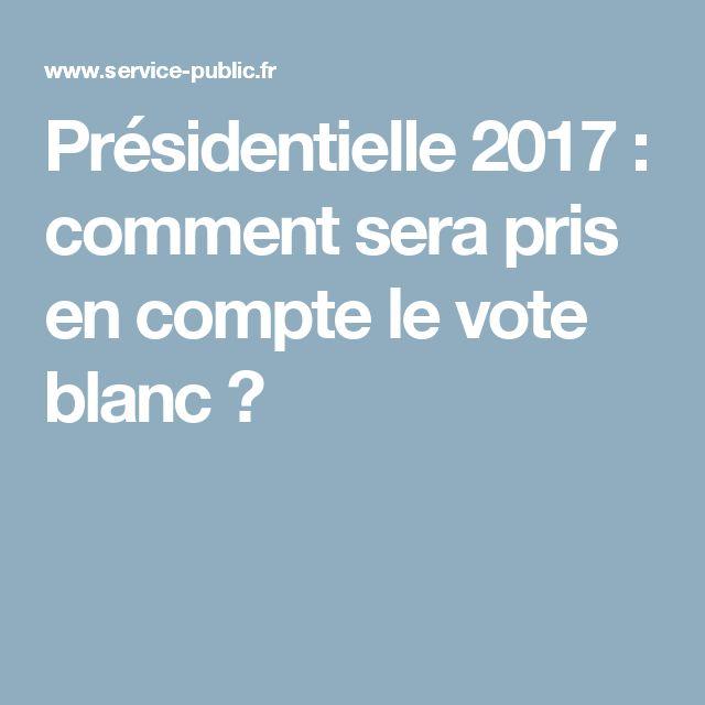 Présidentielle 2017 : comment sera pris en compte le vote blanc ?