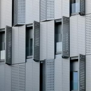 Façade Of Composite Perforated Shutters, Bcn