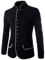 Pocket Edging Design Slimming Lapel Long Sleeve Trendy Corduroy Blazer For Men (PURPLE,2XL) | Sammydress.com