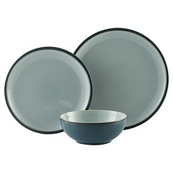 Denby Everyday 12 Piece, 4 Person Dinner Set - Teal @ Tesco £68