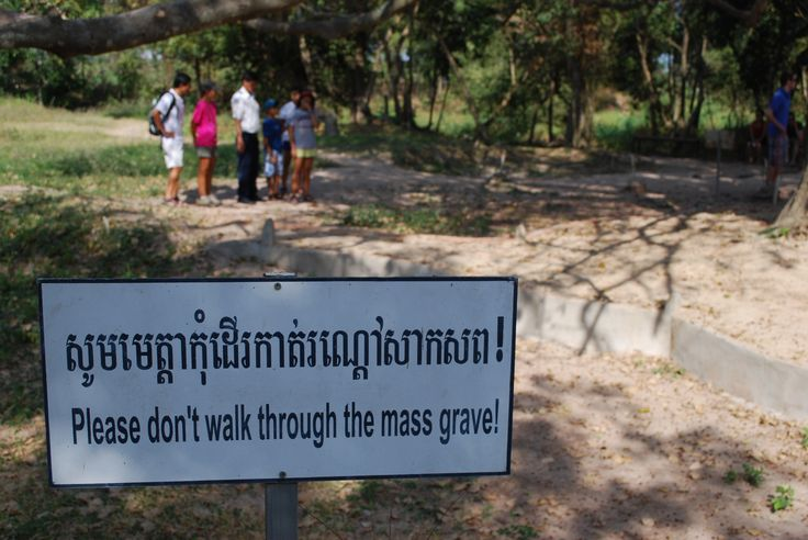 Mass graves are spread about the visitation area of Choeung-Ek.