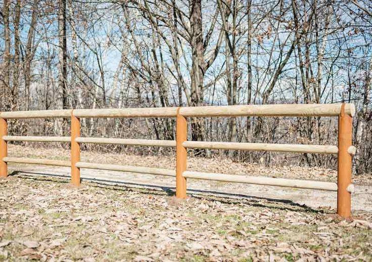 #Staccionata Dobbiaco in acciaio #Corten e #legno. Perfetta per delimitare parchi, sentieri o giardini poiché si integra benissimo con l'ambiente naturale.