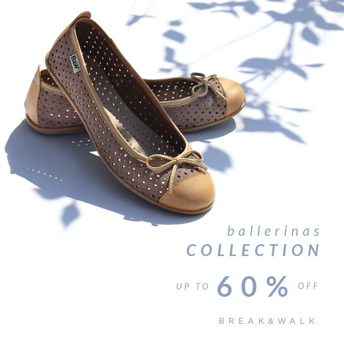 H.A.P.P.Y ••• S.A.L.E.S •••  ➳Do you know Break&Walk's BALLERINAS COLLECTION? NOW UP TO 60% OFF | Shop online: www.breakwalk.com