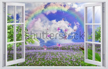 133 фотообои открытое окно