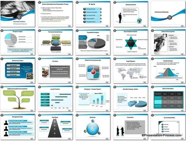 Ppt Business Plan Template Unique Business Numbers Powerpoint Template Marketing Plan Template Startup Business Plan Template Business Plan Template