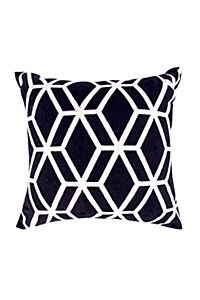 EMBROIDERED GEOMETRIC 50X50CM SCATTER CUSHION