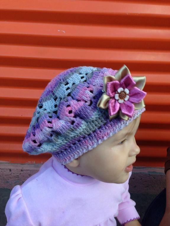 (4) Name: 'Crocheting : beret 'rainbow'