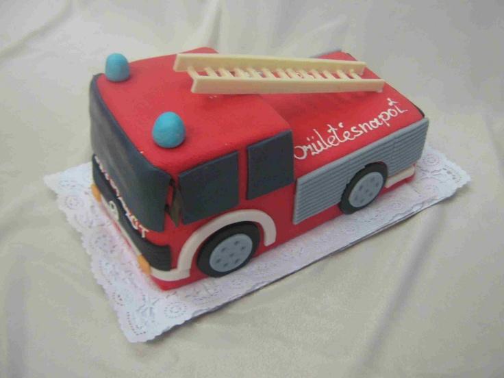 Fire truck cake #firetruck #idea