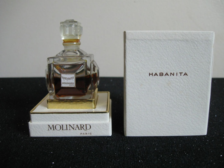 "Mint in box Molinard ""Habanita"" Baccarat sealed 1/2 ounce french vintage perfume 