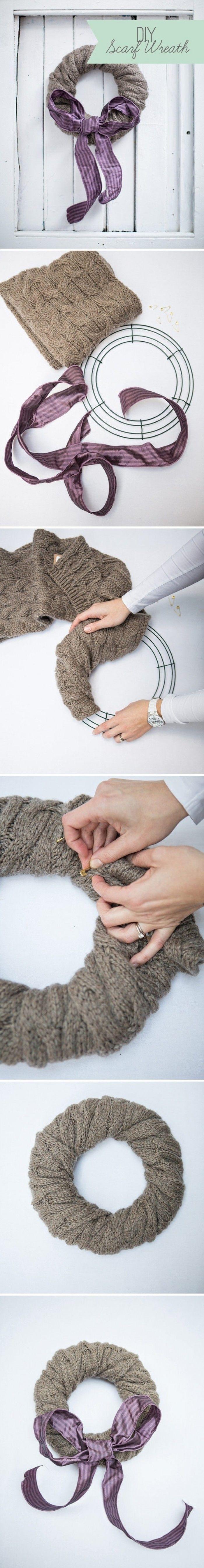 hoe je van een oude trui een krans kan maken