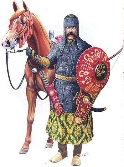 ottoman empire soldiers - these are the ottoman empire soldiers also known as ghazi (warriors). They dressed in armour and shield to protect themselves from the attacks of the enemies
