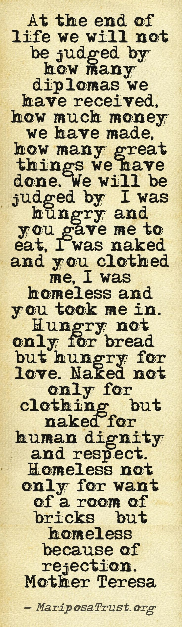 #Mother #Teresa #Quote #Serve #Charity