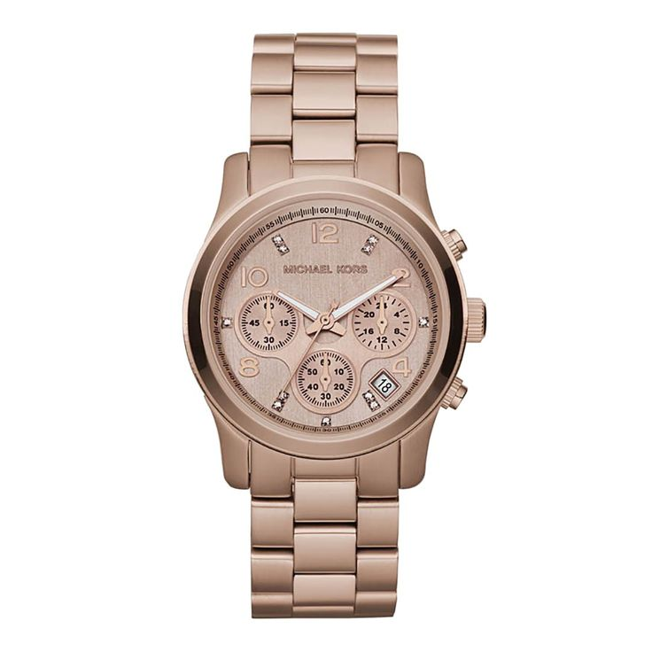 Ladies Rose Gold Stainless Steel Watch